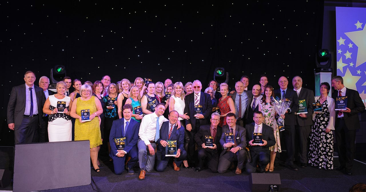 Winners celebrating at the National Coach Tourism Awards 2016